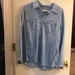 Light blue jean top